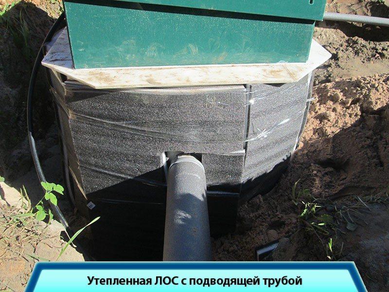 Утепленная станция канализации для дачного дома