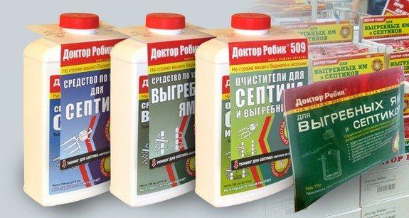 Бактериальные препараты для септиков и выгребных ям.