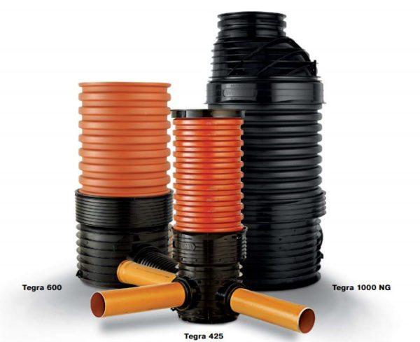 Дренажные колодцы также изготавливаются из пластика, что упрощает их монтаж