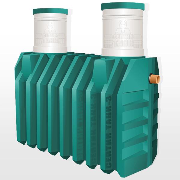 Двухкамерный септик Танк-3: увеличенная производительность и улучшенное качество очистки.