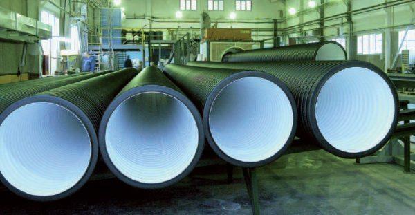 Двухслойные канализационные гофрированные трубы производства компании Полипластик.