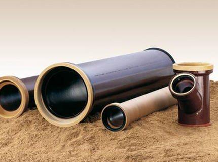 Элементы канализации из керамики.
