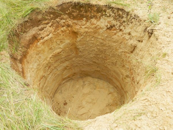 Фильтрующий колодец в песчаном грунте. Идеально.