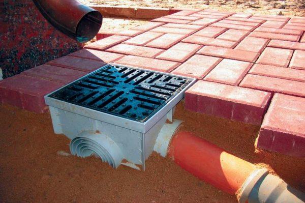 Фото фрагмента домашней ливневой канализации