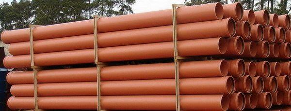 Характерный оранжевый цвет означает, что трубы предназначены для наружного монтажа.