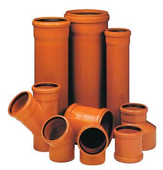 Изделия для наружного монтажа - оранжевые, для внутреннего - серые.