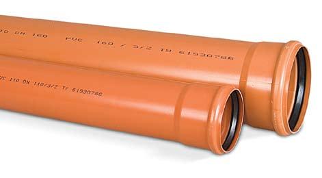 Изделия для наружной канализации обычно окрашиваются в оранжевый цвет.