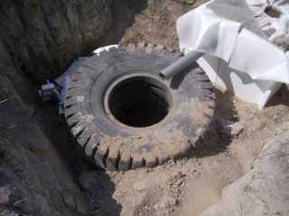 Как сделать септик из колес