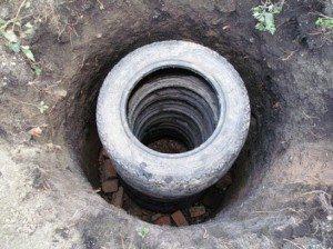 Как сделать сливную яму для бани