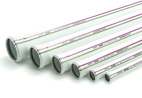 Канализационный полипропиленовые трубы RAUPIANO Plus отличаются хорошими шумоизоляционными свойствами