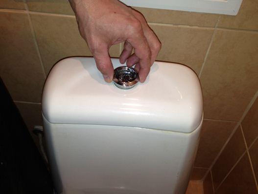 Кнопка выкручивается и поднимается вверх.
