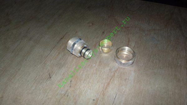 Компрессионный фитинг для металлопластика и полиэтилена PERT.