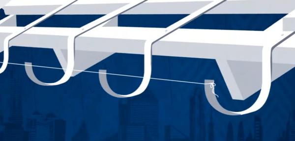 Монтаж промежуточных кронштейнов по натянутому шнуру