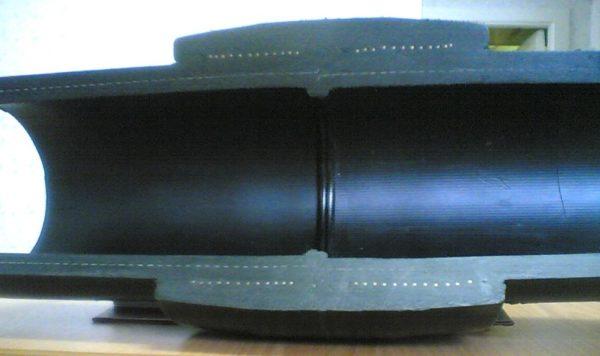 На разрезе можно увидеть, что сварной шов получается очень качественным.
