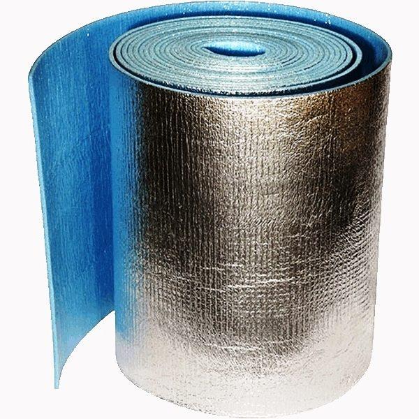 Пенофол - вспененный полимер со слоем фольги на одной из поверхностей.
