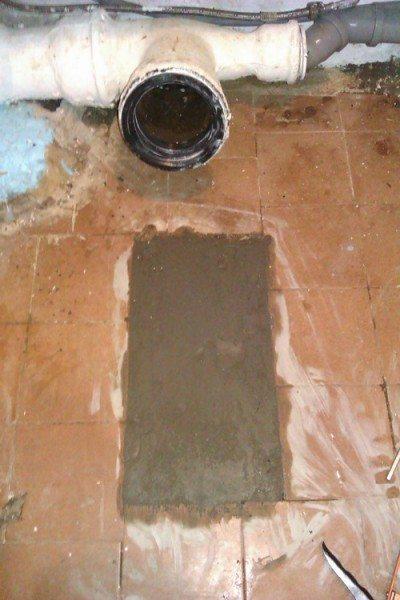 Перед установкой нового комплекта тафта вынимается, а выемка бетонируется.