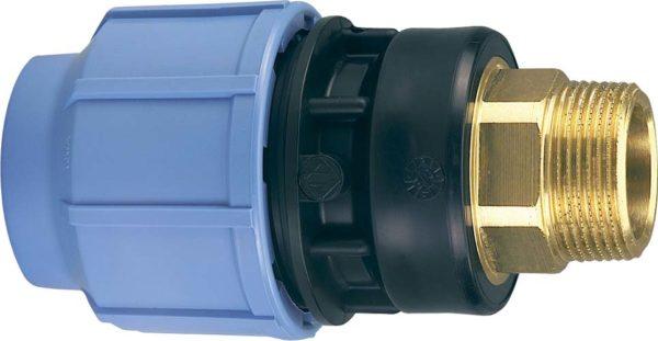 Переходник для соединения металлических и пластиковых труб.