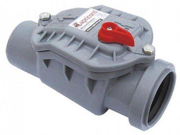 Пластиковый обратный клапан на 110 мм.