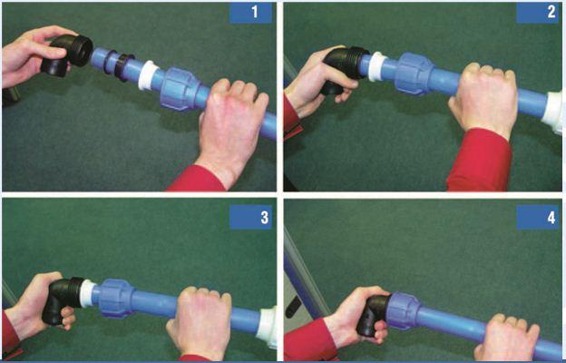 Соединение пластиковых труб фитингами своими руками