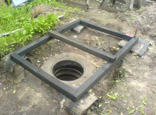 Пример выгребной ямы из автомобильных покрышек