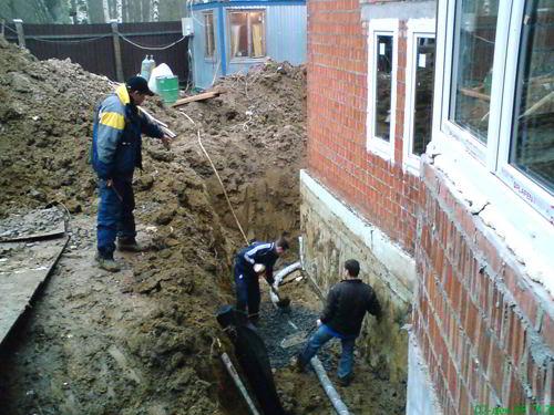 Как сделать дренажная система вокруг дома своими руками 975