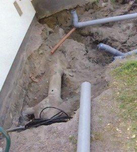Прокладка наружных сетей канализация
