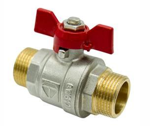 Простой проходной кран для осуществления контроля за одним конкретным сантехническим прибором