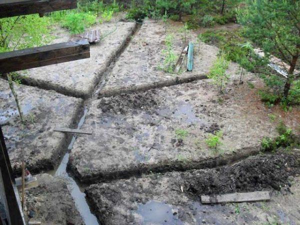 Работать нужно в сухую погоду, в сырую в системе будет стоять вода