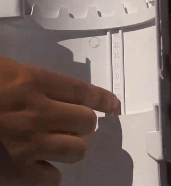 Расширительный компенсатор с градуировкой изнутри