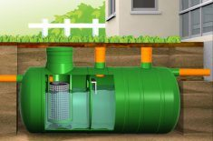 Резервуар с последовательно расположенными ячейками.