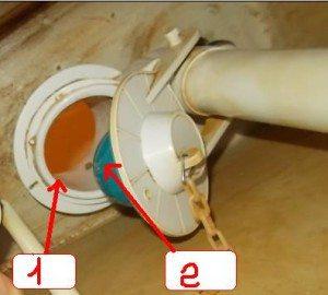 Седло (номер 1 на рисунке) и груша (2) могут зарастать известковыми отложениями и ржавчиной.