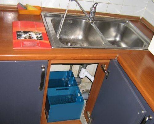 Сепаратор встроенный в кухонный гарнитур.