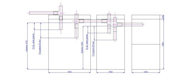 Схема последовательного соединения резервуаров переливного септика.
