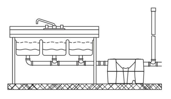Схема расположения жироловки на полу
