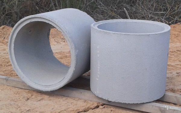 Сквозные бетонные кольца с торцевым замком.