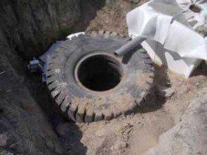 Сливная яма с переливом
