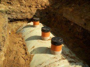 Сливные ямы конструкция