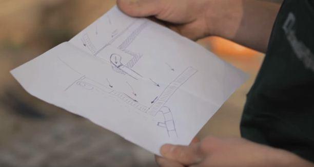 Схема монтажа дренажной системы, составленная самостоятельно.