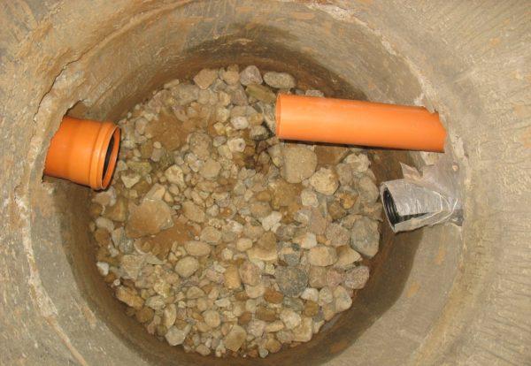 Внутри фильтрационного колодца обязательно используется дренаж