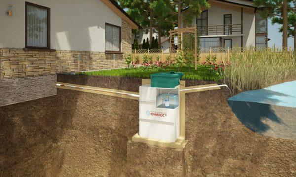 Вода может сбрасываться в дренажную канаву или водоем.