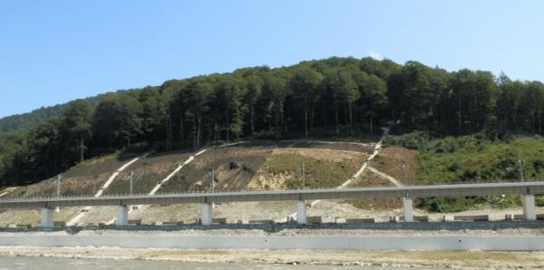 Водоотводная канава вертикального дренажа.