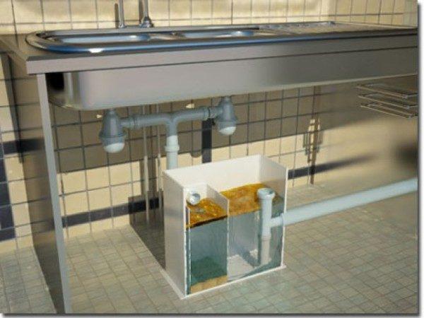 Жироуловитель под мойку с двумя ваннами.